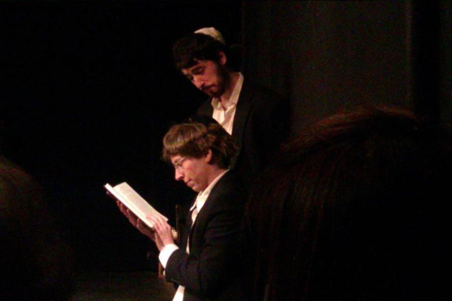 Top to Bottom: Avigdor (Peter Oliver), Anshel (Mallory Berlin)