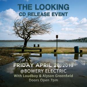 The Looking Album Release Flyer