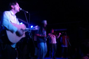 (Left to Right) Rench, R-Son, and Jon West on the Fiddle
