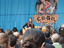 Lisa Loeb performing solo at CBGB Festival 2013