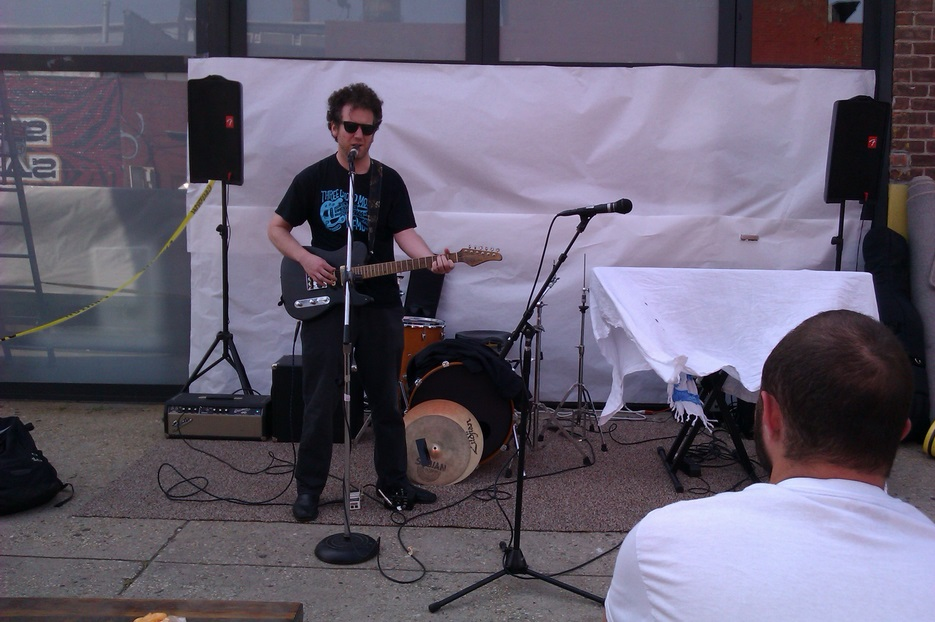 Pete Galub in front of Kinfolk Studios in Brooklyn on June 21st, 2013