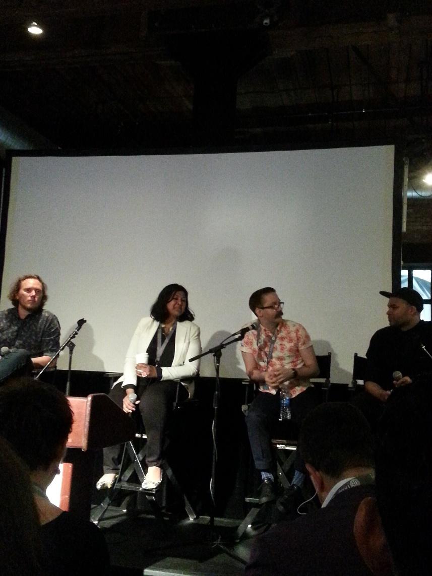 L-R: Trond Hansen (Kite), Vandna Cheena Jain (Blippar), Ben Wilson (Refinery29), and Adrian Covert (Fast Company)