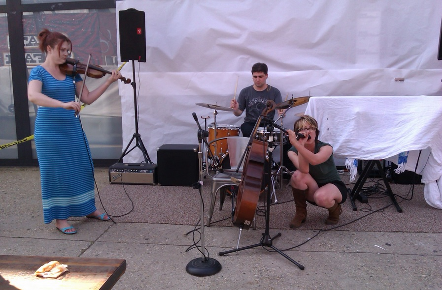 Valerie Kuehne performs at Avi Wisnia's 7th Annual Brooklyn BBQ Block Party