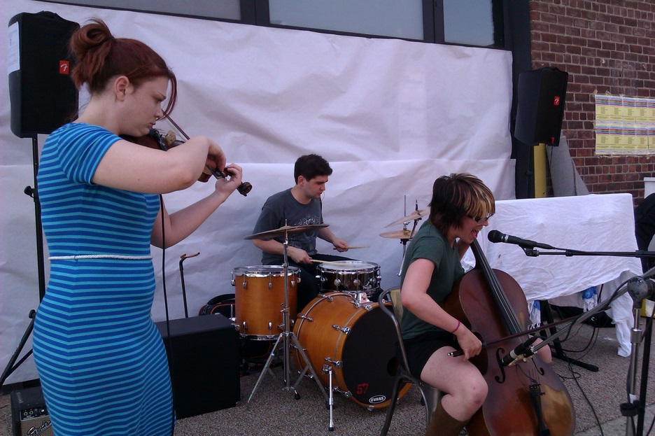 Valerie Kuehne performs in front of Kinfolk Studio in Brooklyn on June 21st, 2013