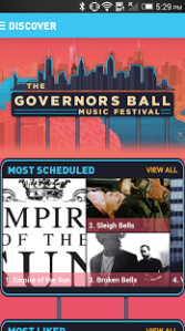 Governors Ball Smartphone App