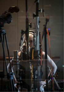 Holly Henry in the Recording Studio