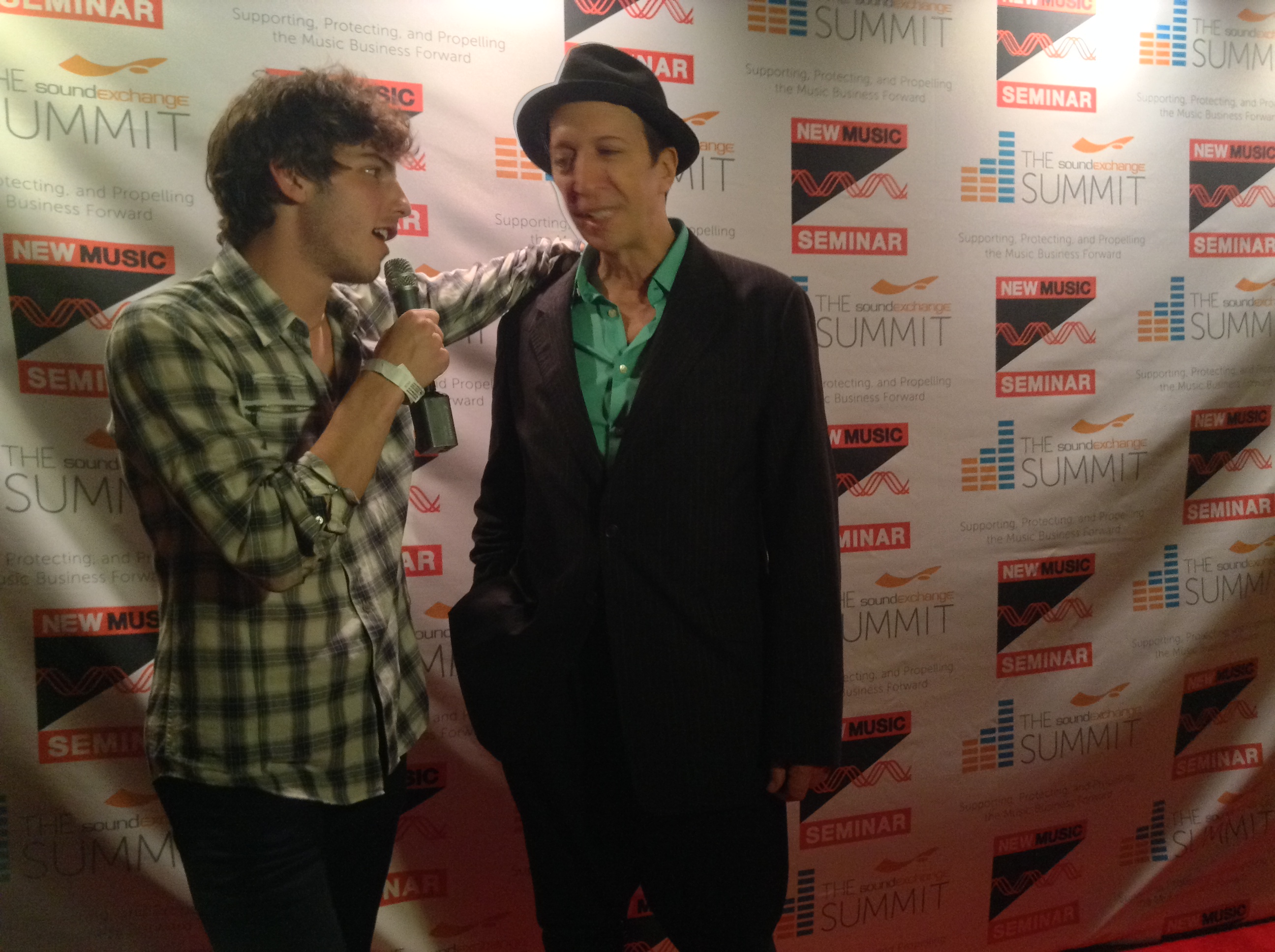 Tom Silverman, Executive Director Of The New Music Seminar With A  Journalist On Opening Night