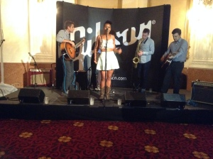 Juicebox Perform at the New Yorker Hotel (l-r): Isaac Jaffe, Lisa Ramey, Nicholas Myers, Aaron Rockers