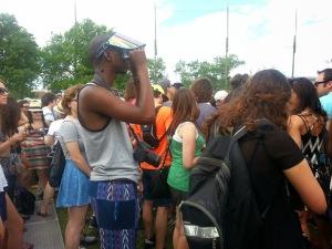 Crowd at Bastille show, Big Apple Stage, June 6th, 2014