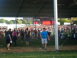 Crowd for Phoenix, June 6th 2014, at Governor's Ball Music Festival