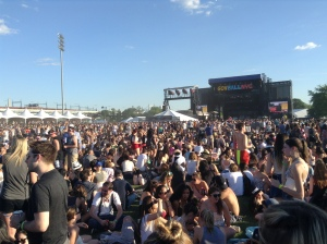 Waiting for The Strokes to perform at Governor's Ball Music Festival 2014