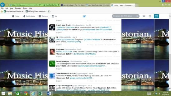 Screenshot Twitter GovBall2014video kwd search