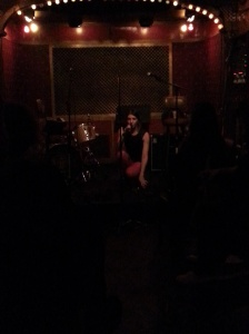 Alyson Greenfield performs solo during her set at Pete's Candy Store, 10/23/2014 as part of CMJ