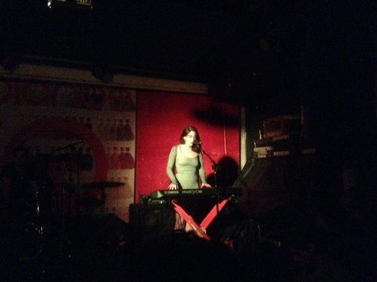 Janna Pelle performs at Pianos for her album launch celebration, 11/10/2014