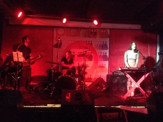Janna Pelle at Pianos (l-r): Jamie Pitrelli (Bass), Leo Freire (drums) and Janna Pelle.