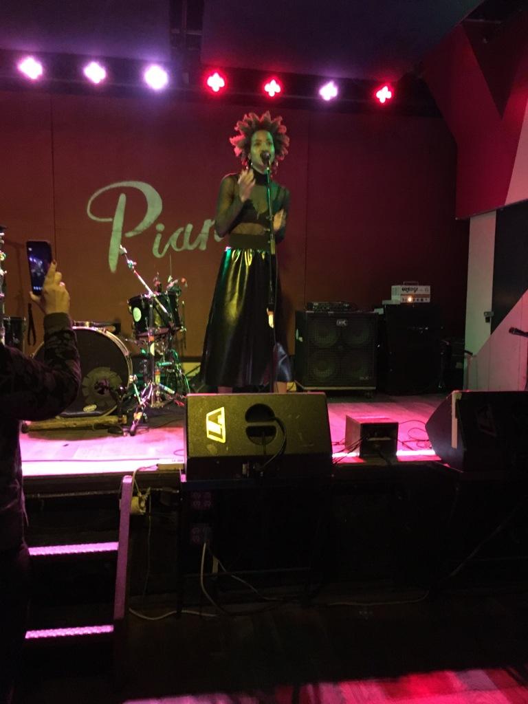 Ava Raiin performing at Pianos, Oct. 2017