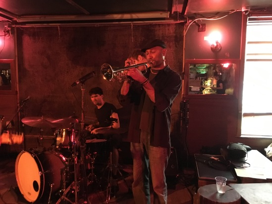 Trumpeteer playing with Radiator Kings at Pianos, Oct 2017